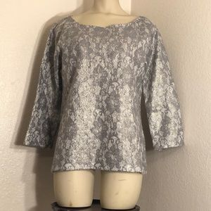 Banana Republic Two-Tone Lace Top